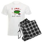 I Love Bull Sh#t Men's Light Pajamas