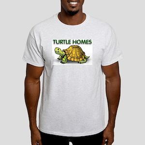 Turtle Homes Cartoon Turtle Grey T-Shirt