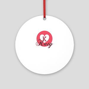 katy Round Ornament