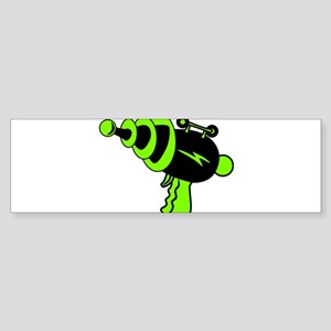Neon Green Ray Gun Bumper Sticker