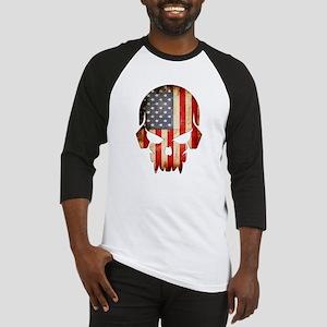 American Flag Skull Baseball Jersey