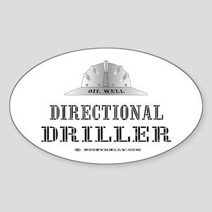 Dir. Driller Oval Sticker