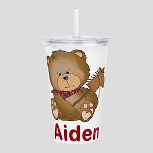 Aiden's Cowboy Bear Acrylic Double-wall Tumbler