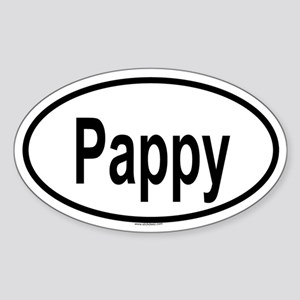 PAPPY Oval Sticker