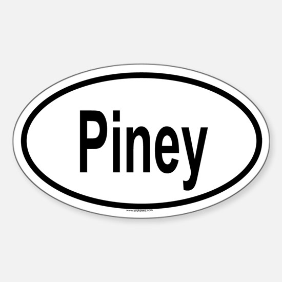 PINEY Oval Decal