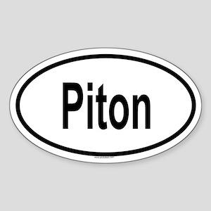PITON Oval Sticker