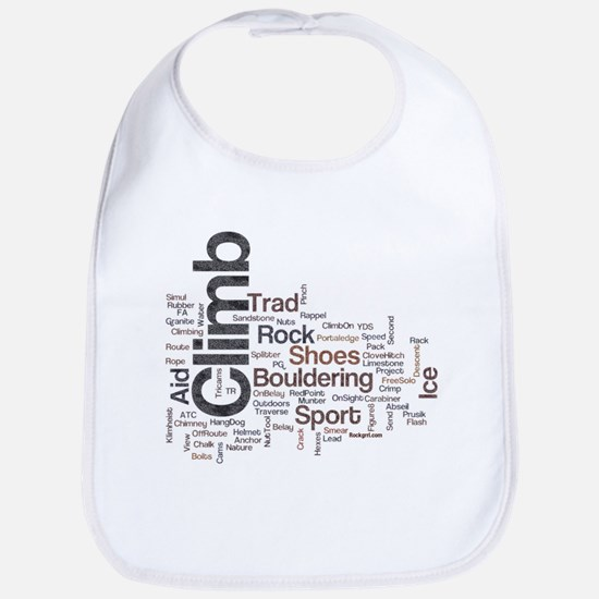 Climbing Words Baby Bib