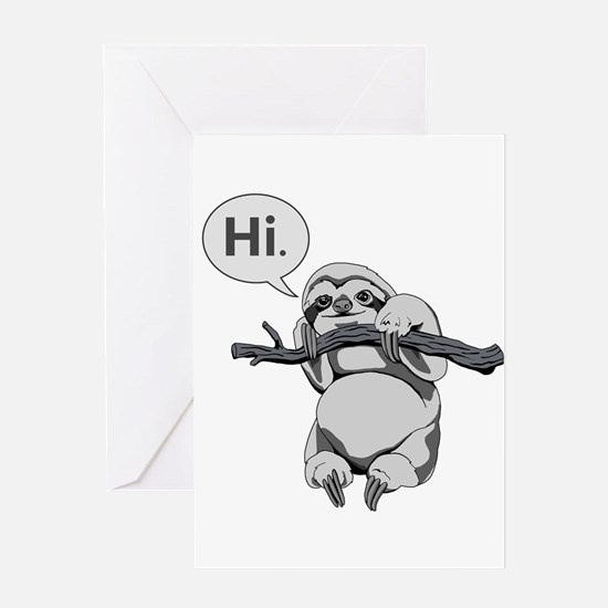 Friendly Sloth Greeting Cards