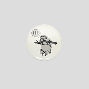 Friendly Sloth Mini Button