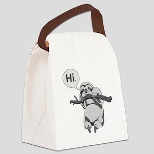 Friendly Sloth Canvas Lunch Bag