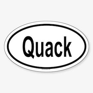 QUACK Oval Sticker