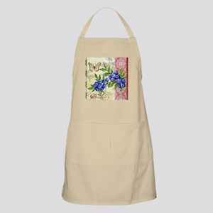 FRENCH MODERN BUTTERFLY AND BLUEBERRY Apron