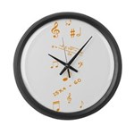Music and Math Large Wall Clock