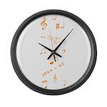 Music and Math Large Wall Clock