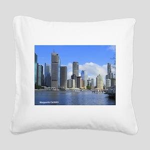 Brisbane City Square Canvas Pillow