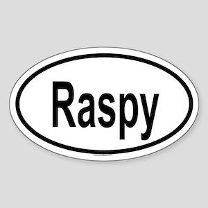 RASPY Oval Sticker