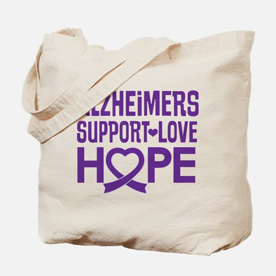 Alzheimers Disease Support Tote Bag