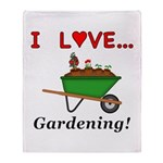 I Love Gardening Throw Blanket