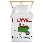 I Love Gardening Twin Duvet