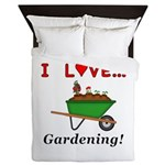 I Love Gardening Queen Duvet