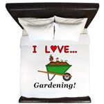 I Love Gardening King Duvet