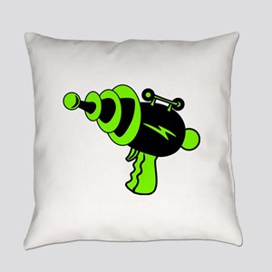 Neon Green Ray Gun Everyday Pillow