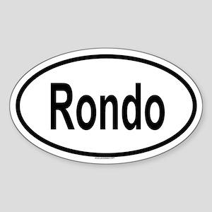 RONDO Oval Sticker