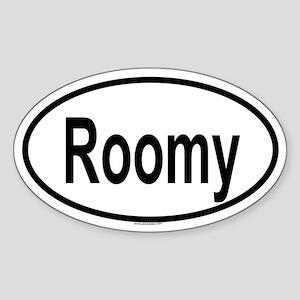 ROOMY Oval Sticker