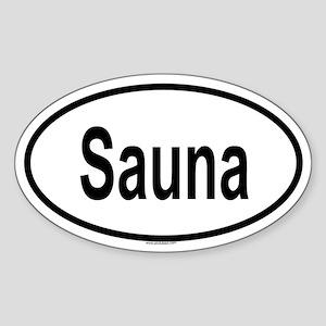 SAUNA Oval Sticker