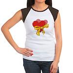 Love Hearts Women's Cap Sleeve T-Shirt