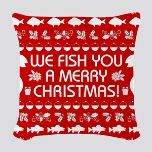 WE FISH YOU... Woven Throw Pillow