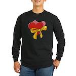 Love Hearts Long Sleeve Dark T-Shirt