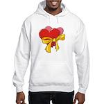 Love Hearts Hooded Sweatshirt