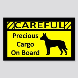 Precious Cargo Carolina Dog Sticker (Rect)