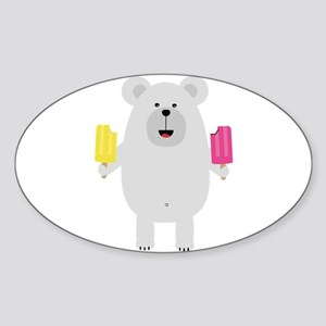 Polar Bear with icecream Sticker