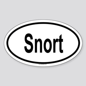 SNORT Oval Sticker