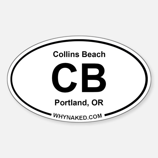 Oval Decal Collins Beach Decal
