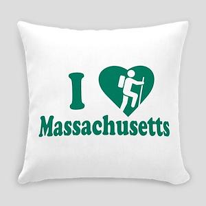 Love Hiking Massachusetts Everyday Pillow