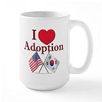 I Love Adoption (Korea/USA) Large Mug