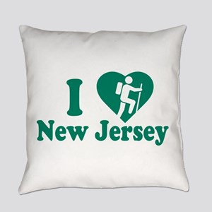 Love Hiking New Jersey Everyday Pillow
