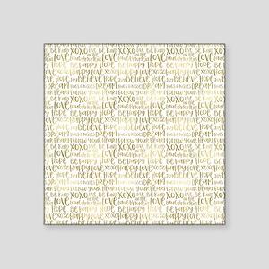 Gold Inspirational Words Sticker