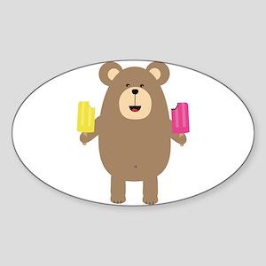 Brown Bear with Icecream Sticker