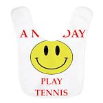 Tennis joke Polyester Baby Bib
