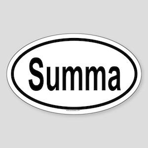 SUMMA Oval Sticker
