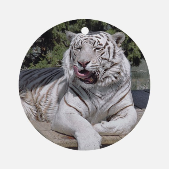 White Tiger 10 Ornament (Round)