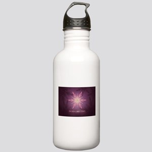 Pink Merry Christmas S Stainless Water Bottle 1.0L