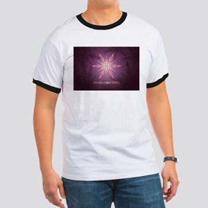 Pink Merry Christmas Snowflake T-Shirt