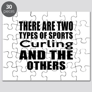 There Are Two Types Of Sports Curling Desig Puzzle