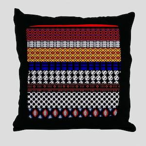 African Pattern Mix Throw Pillow