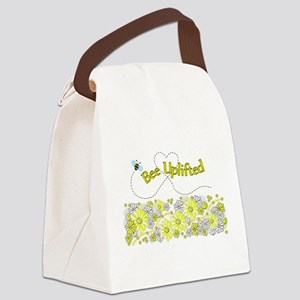 Daisy Bee Uplifted Canvas Lunch Bag